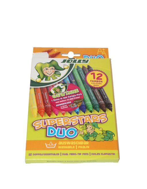 Flomastri Jolly Superstar Duo 12 kom