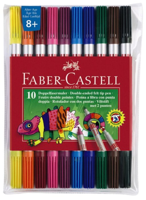 Flomastri Faber Castell 10/1, obojestranski