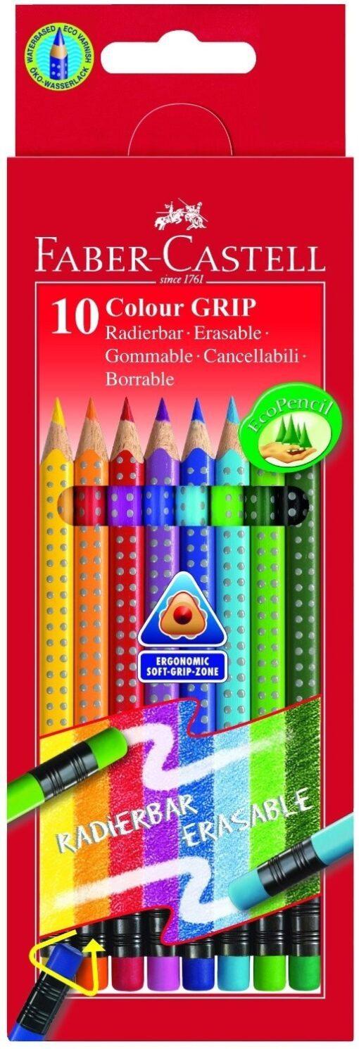 Barvice Faber Castell z radirko 10/1