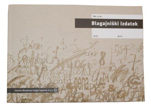Obr. G.62 Blagajniški izdatek A5