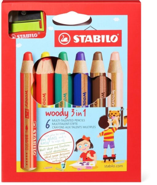 Barvice Stabilo Woody 3v1 6/1